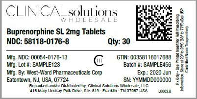 Buprenorphine SL 2mg Tablet 30 count blister card