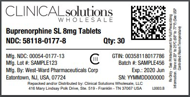 Buprenorphine SL 8mg Tablet 30 count blister card