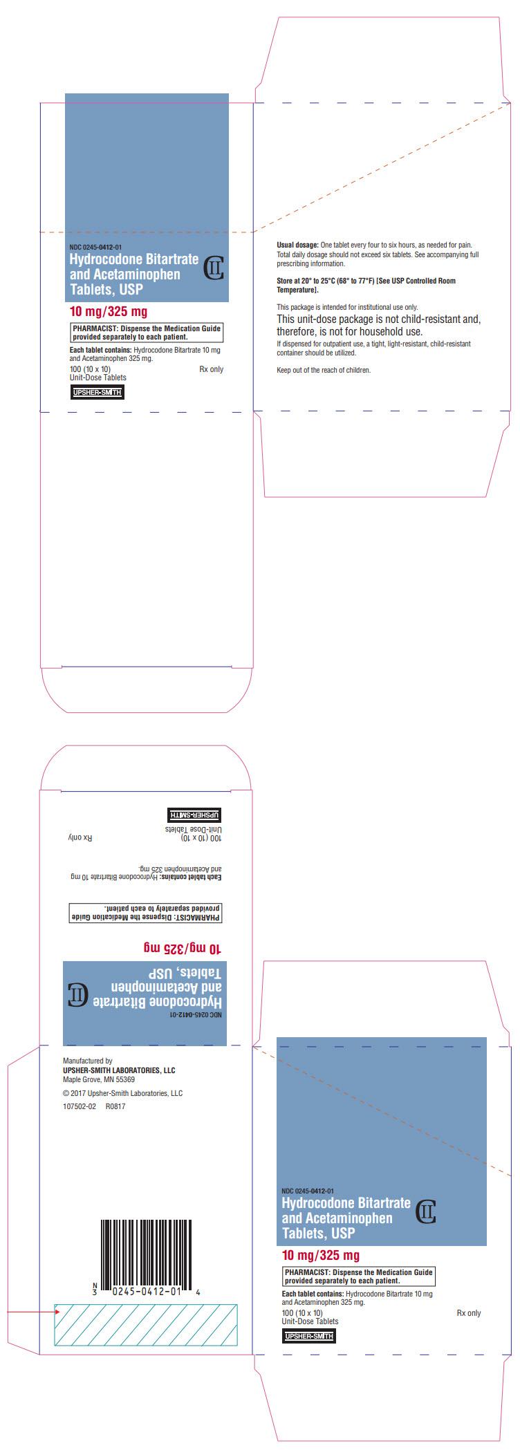 PRINCIPAL DISPLAY PANEL - 10 mg/325 mg Tablet Blister Pack Carton