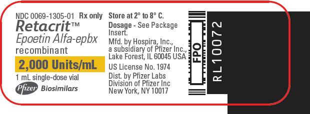 PRINCIPAL DISPLAY PANEL - 2,000 Units/mL Vial Label