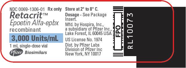 PRINCIPAL DISPLAY PANEL - 3,000 Units/mL Vial Label
