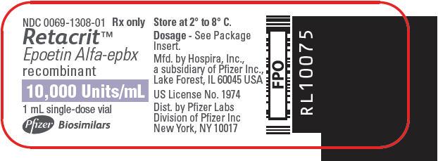 PRINCIPAL DISPLAY PANEL - 10,000 Units/mL Vial Label