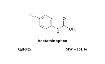 Acetaminophen Chemical Structure