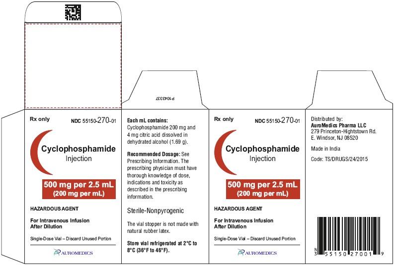 PACKAGE LABEL-PRINCIPAL DISPLAY PANEL-500 mg per 2.5 mL (200 mg per mL) - Container-Carton (1 Vial)