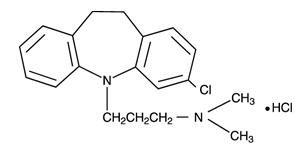 Clomipramine HCl Structural Formula