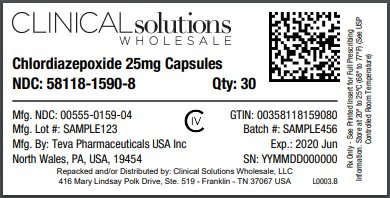 Chlordiazepoxide 25mg capsule 30 count blister card