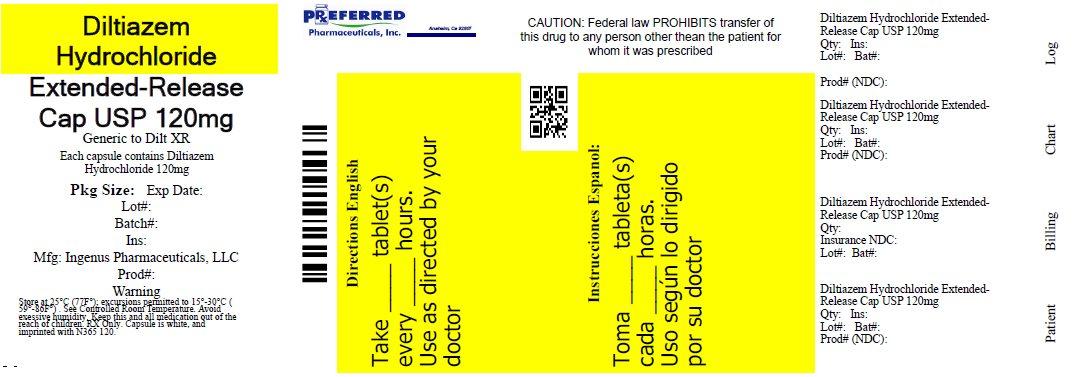 Diltazem Hydrochloride Extended-Release Cap USP 120mg