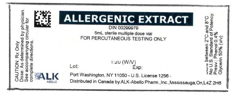 PRINCIPAL DISPLAY PANEL ALLERGENIC EXTRACT DIN 00299979 5mL sterile multiple dose vial FOR PERCUTANEOUS TESTING ONLY