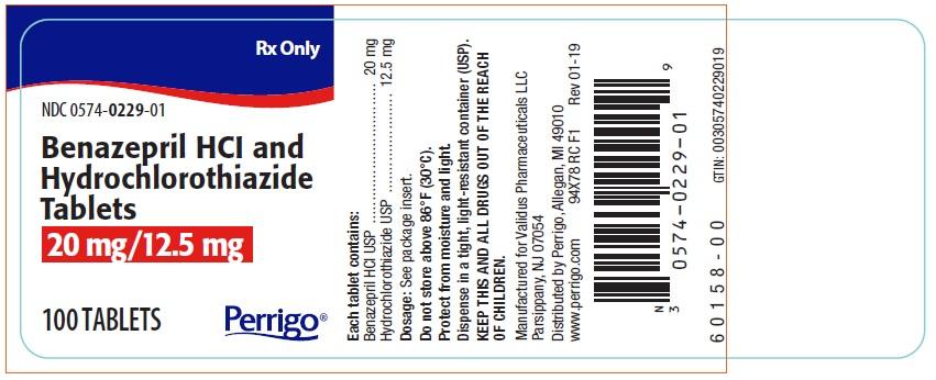 benazepril-hcl-and-hydrochlorothiazide-tablets-20-mg-12.5-mg-label