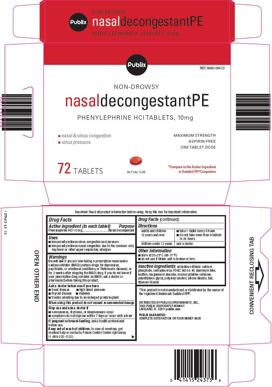 Publix Nasal Decongestant PE image