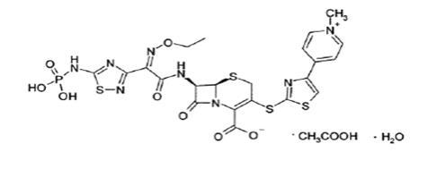 Figure 1: Chemical structure of ceftaroline fosamil