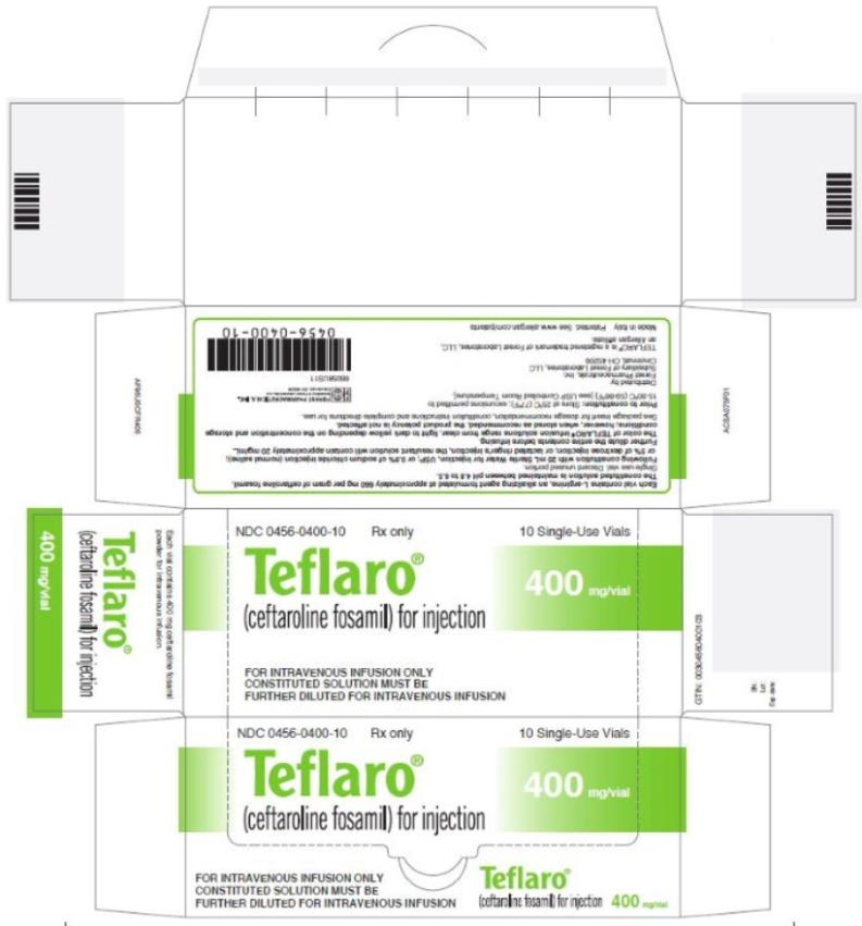 NDC: <a href=/NDC/0456-0600-10>0456-0600-10</a> Teflaro® (ceftaroline fosamil) for injection 600 mg/vial 10 Single-Use Vials Rx Only