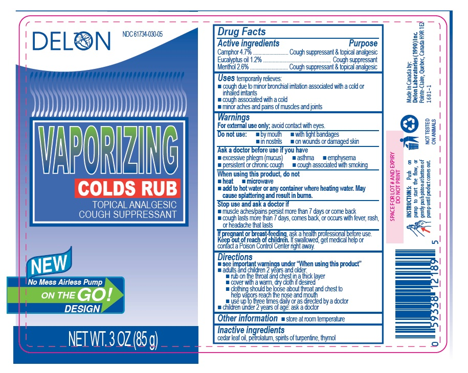 Delon Vaporizing Colds Rub 85g