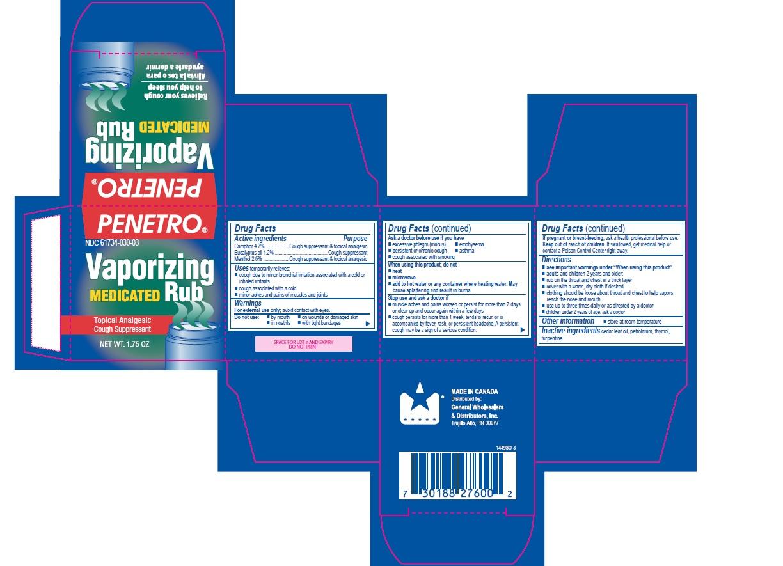 Penetro Vaporizing Medicated Rub 1.75oz box