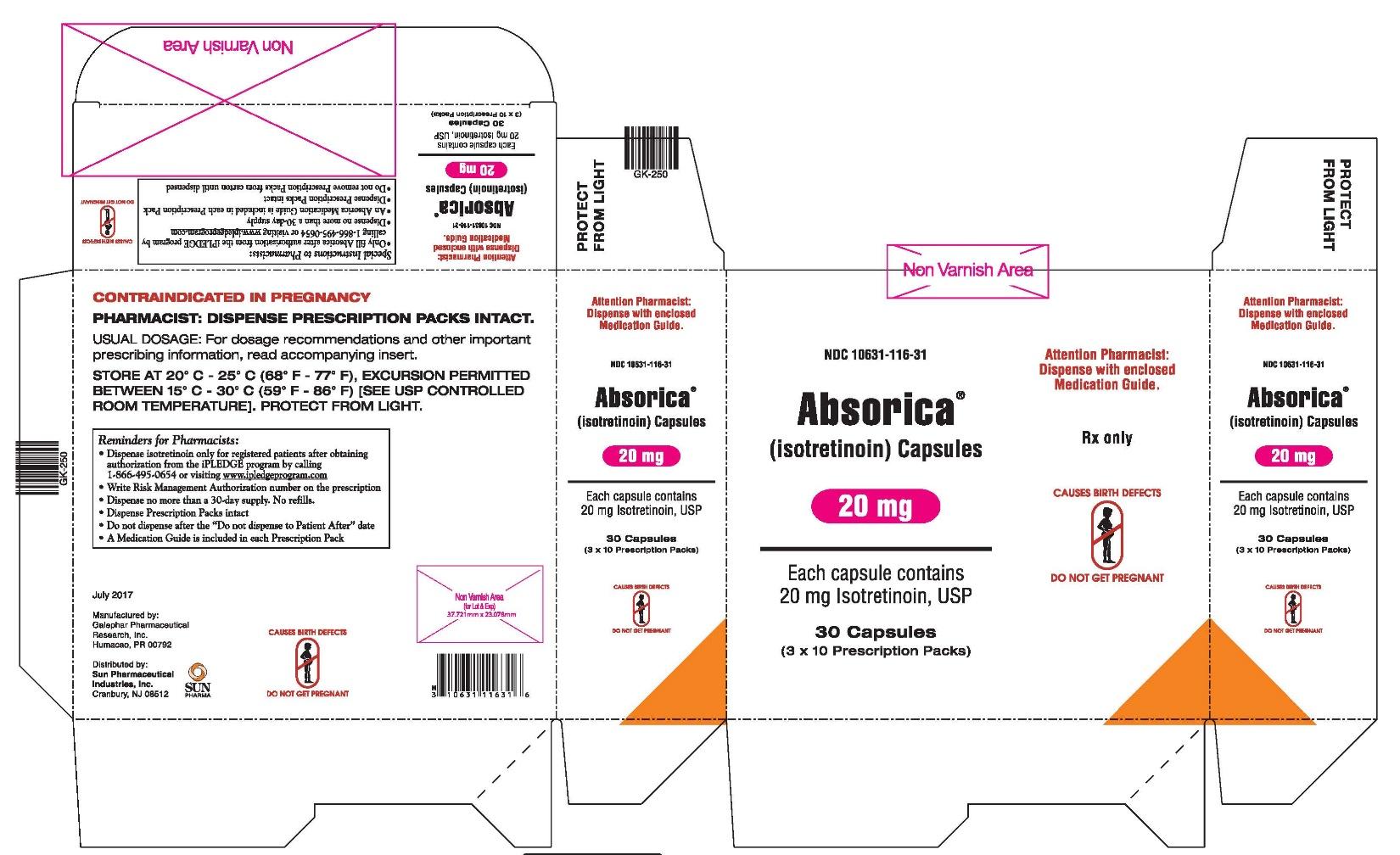 Absorica 20 mg Carton
