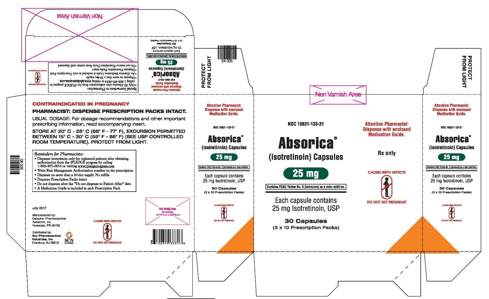 Absorica 25 mg Carton