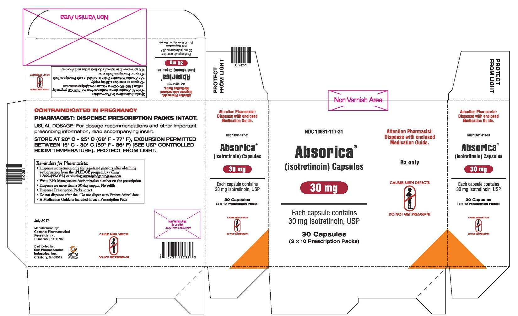 Absorica 30 mg Carton