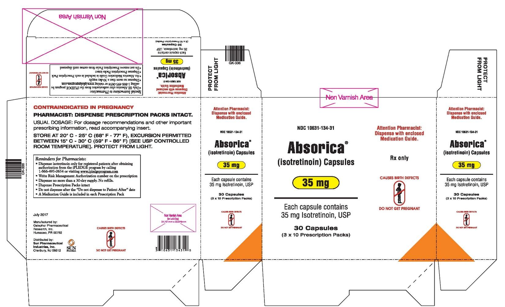 Absorica 35 mg Carton