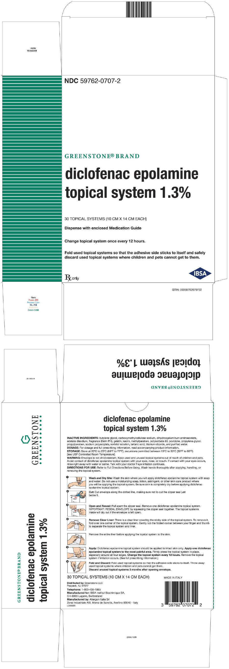 PRINCIPAL DISPLAY PANEL - 30 Topical System Pouch Carton