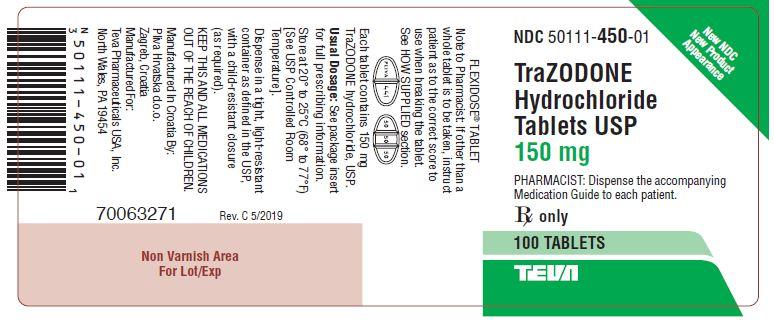 Trazodone HCl Tablets USP 150 mg 100s