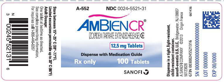 PRINCIPAL DISPLAY PANEL - 12.5 mg Tablet Bottle Label