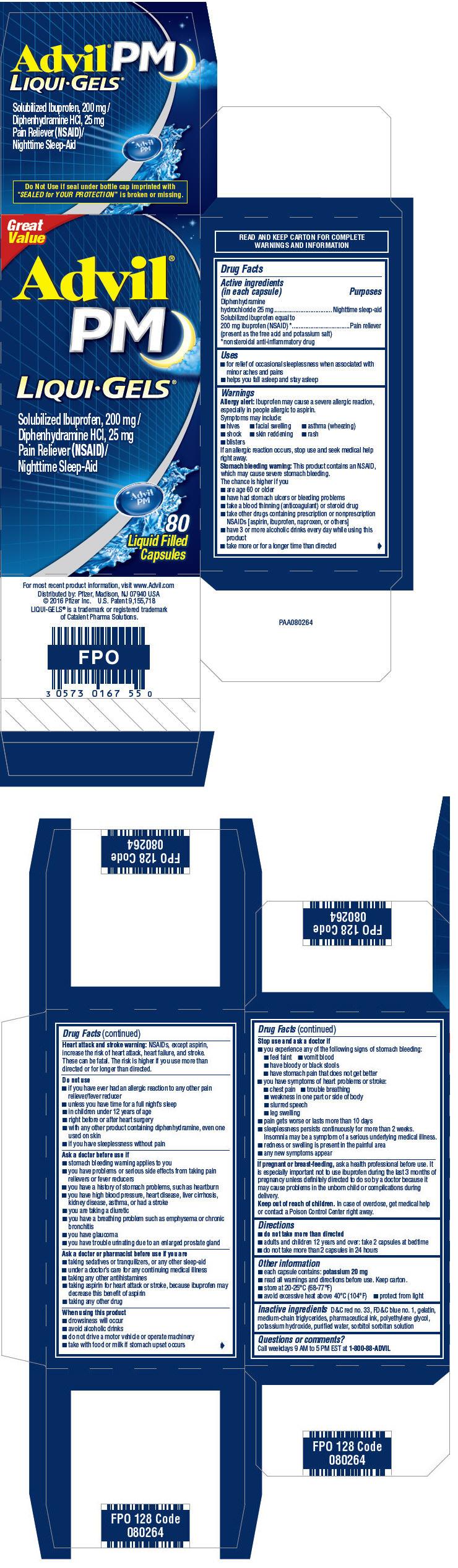 Principal Display Panel - 200 mg/25 mg Capsule Bottle Carton - NDC: <a href=/NDC/0573-0167-55>0573-0167-55</a>