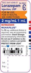 Lorazepam Injection, USP CIV 2 mg/mL 1 mL vial