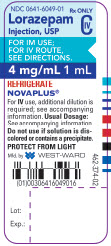 Lorazepam Injection, USP CIV 4 mg/mL 1 mL