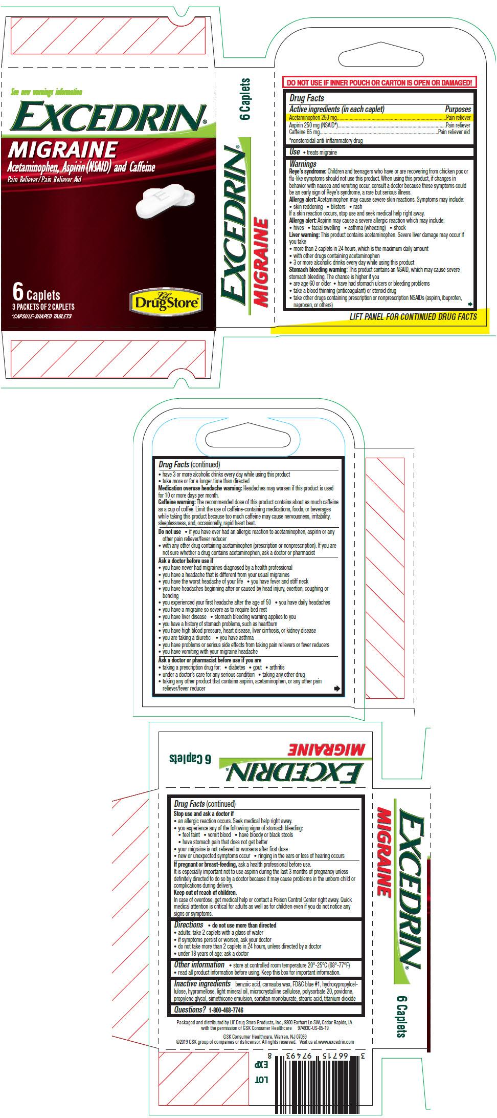 PRINCIPAL DISPLAY PANEL - 6 Caplet Packet Carton