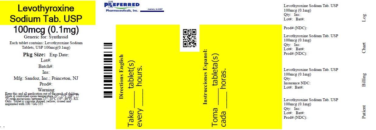 Levothyroxine Sodium Tablets USP 100mcg (0.1mg)