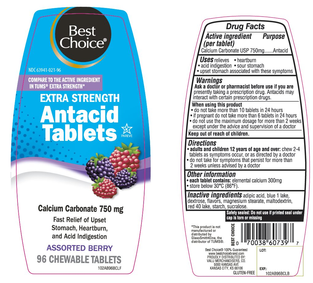 Best Choice Assorted Berry Antacid Tablets