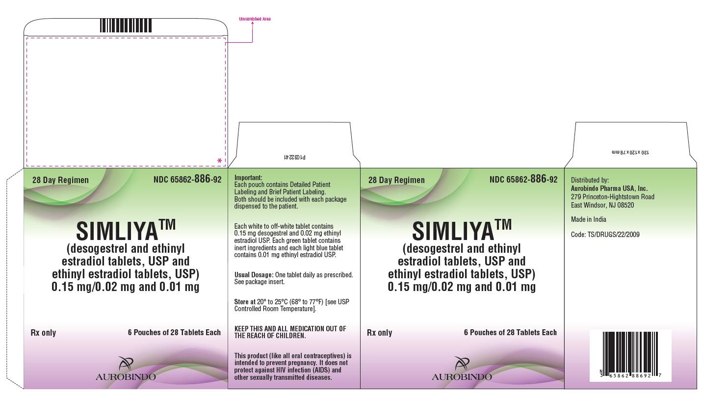 PACKAGE LABEL-PRINCIPAL DISPLAY PANEL - 0.15 mg/0.02 mg and 0.01 mg (6 Pouch Carton)