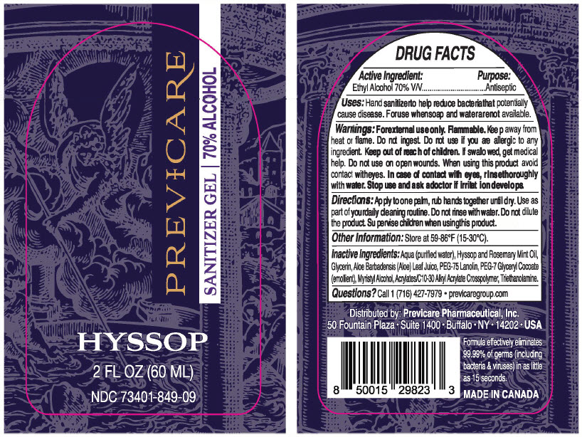 Principal Display Panel - 60 ML Bottle Label - NDC: <a href=/NDC/73401-849>73401-849</a>