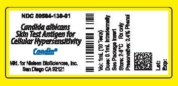 Candin Vial Label
