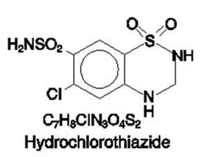 Hydrochlorothiazide Chemical Structure