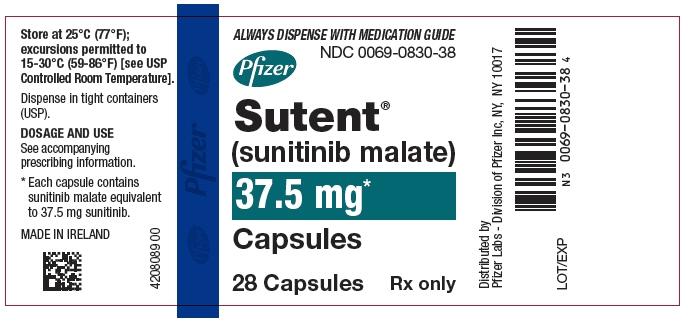 PRINCIPAL DISPLAY PANEL - 37.5 mg Capsule Bottle Label