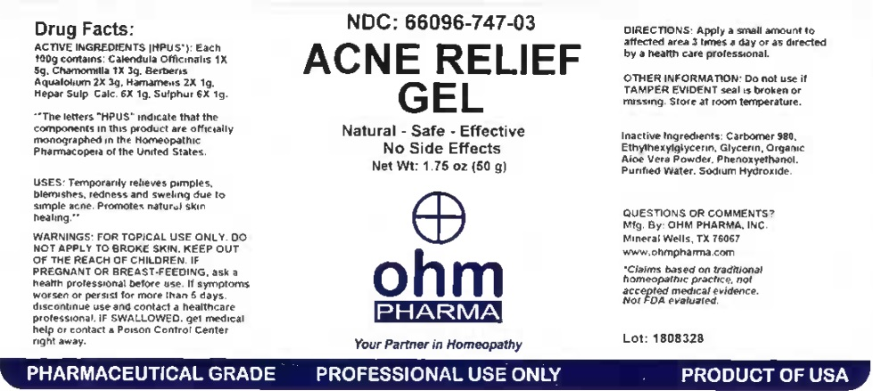 Acne Relief Gel 50g Bottle Label