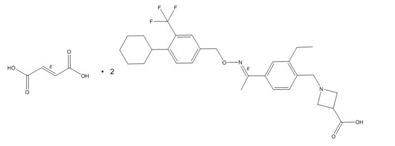 siponimod structural formula