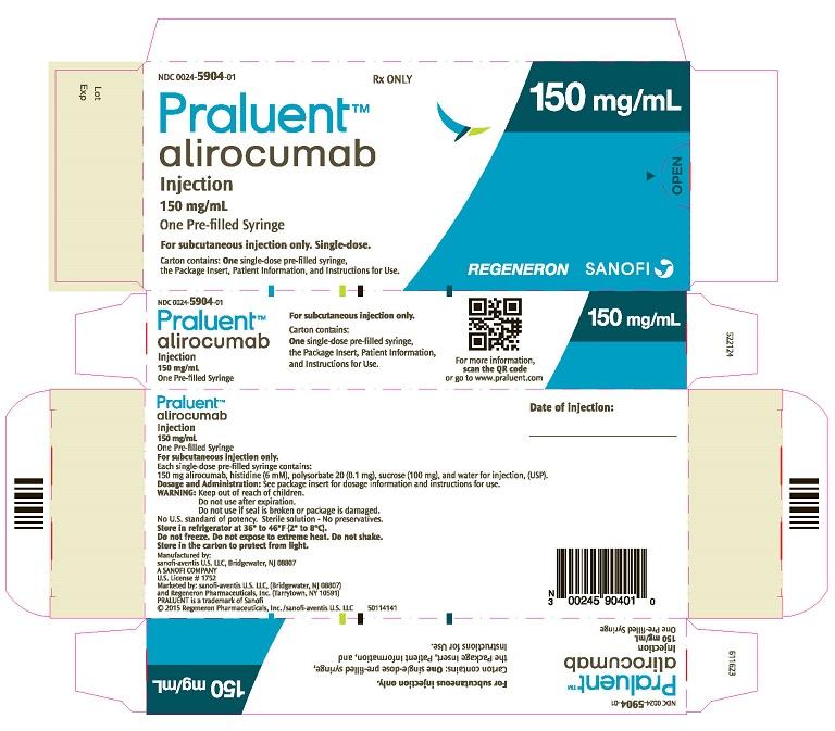 PRINCIPAL DISPLAY PANEL - 150 mg/mL Syringe Carton
