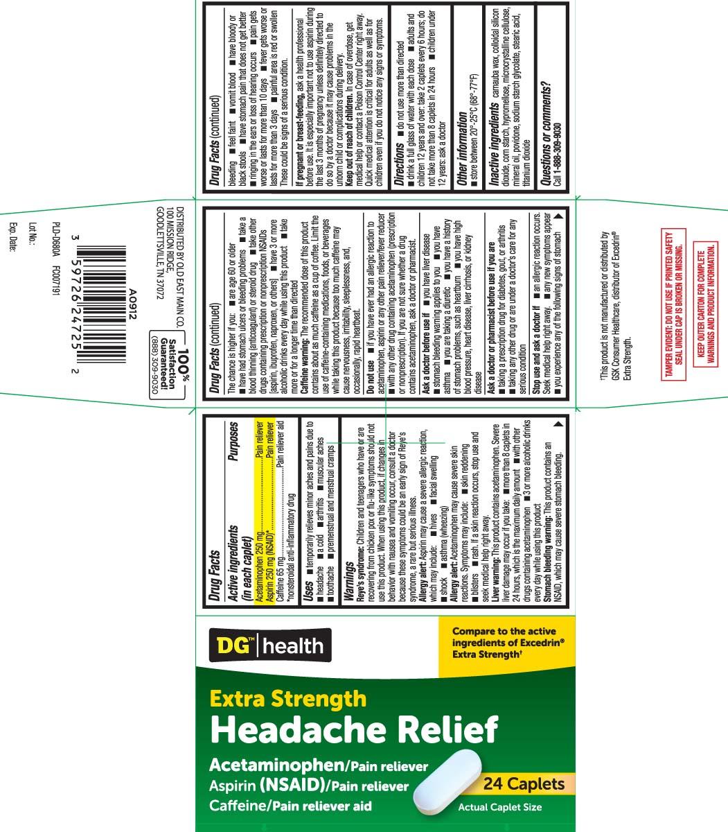 Acetaminophen 250 mg, Aspirin 250 mg (NSAID)* Caffeine 65 mg, *nonsteroidal anti-inflammatory drug