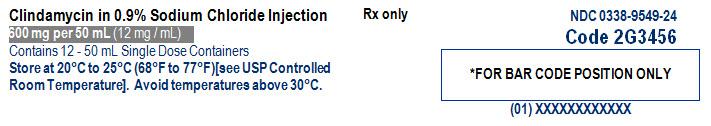 Clindamycin in Sodium Chloride Representative Carton Label NDC: <a href=/NDC/0338-9549-24>0338-9549-24</a> 2 of 3