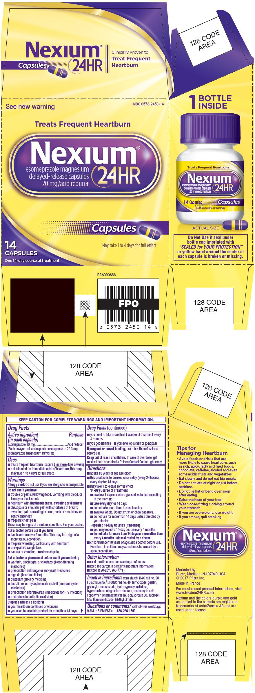 PRINCIPAL DISPLAY PANEL - 14 Capsule Bottle Carton