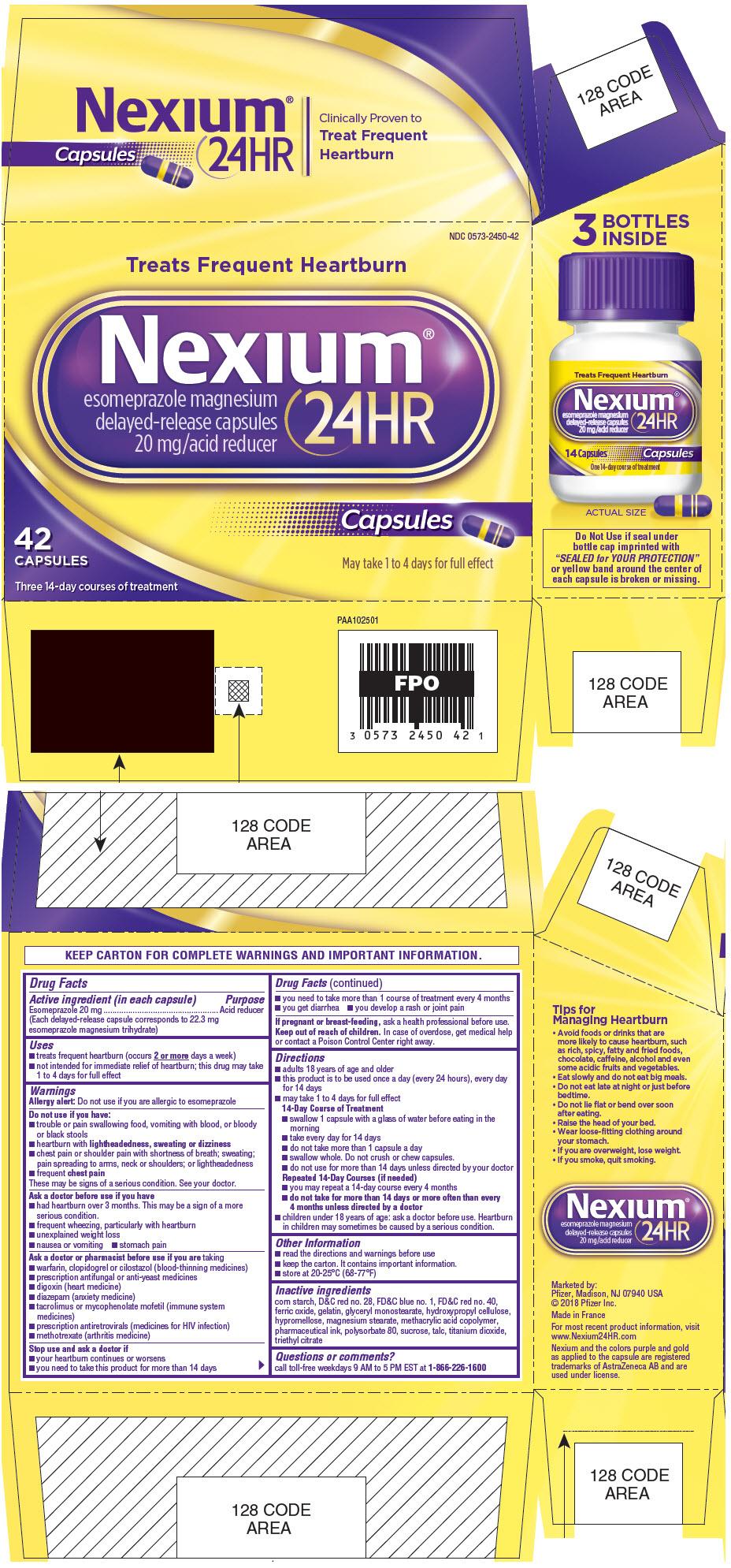 PRINCIPAL DISPLAY PANEL - 42 Capsule Bottle Carton