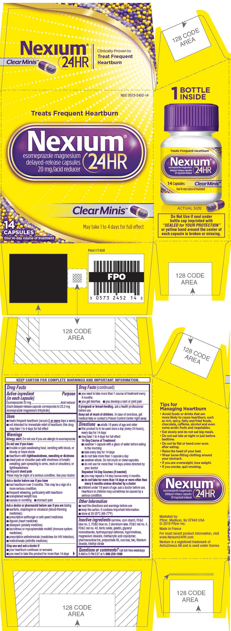 PRINCIPAL DISPLAY PANEL - 14 Capsule Bottle Carton - Clear Minis