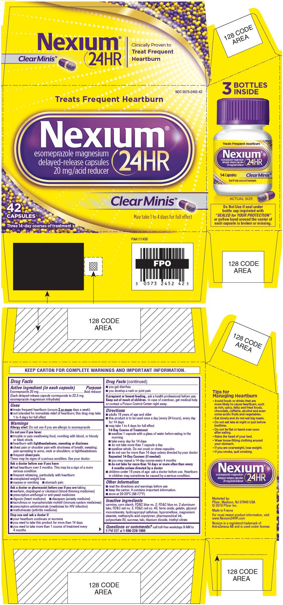PRINCIPAL DISPLAY PANEL - 42 Capsule Bottle Carton - Clear Minis