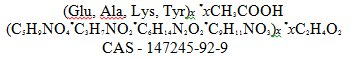 Glatiramer Acetate Structural Formula