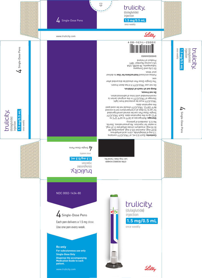 PACKAGE LABEL – Trulicity™, 1.5 mg/0.5 mL, Prefilled Pen, 4 count