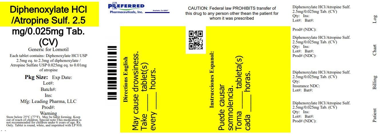 Diphenoxylate HClAtropine Sulf 25mg0025mg Tab (CV)