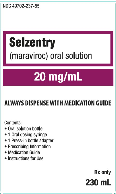 Selzentry oral solution 20 mg per mL 230 mL carton
