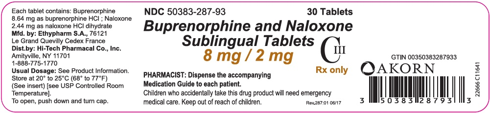 8 mg/2 mg 30-count Bottle Label